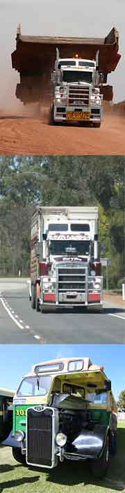 Road trains trucks
